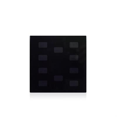 Glasabdeckung für Symbole 10-fach schwarz