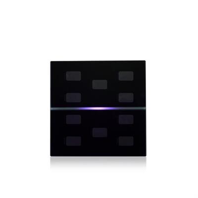Glasabdeckung RGB 10-fach für Symbole schwarz