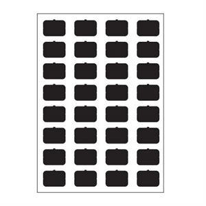 Symbol-Bogen A schwarz blind