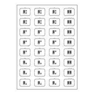 Symbol-Bogen E weiss