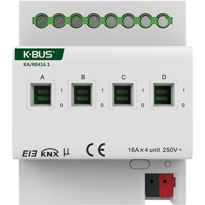 Actionneur de commutation avec mesure de courant 4 cannaux / 16A
