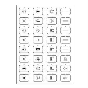 Feuille d'icônes B blanc