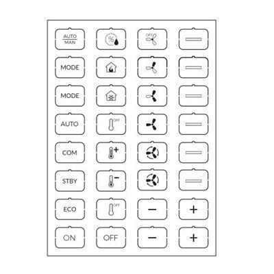 Feuille d'icônes C blanc