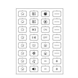 Feuille d'icônes D blanc