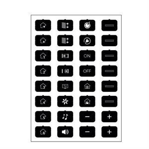 Feuille d'icônes D noir
