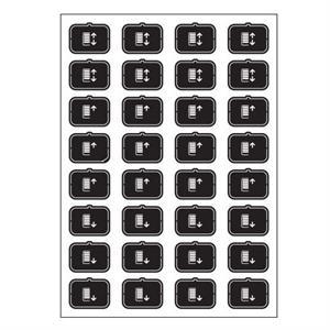 Feuille d'icônes E noir