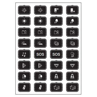 Feuille d'icônes H noir