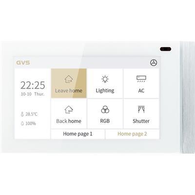 """KNX Touch Panel V50 5"""" horizontalement blanc"""