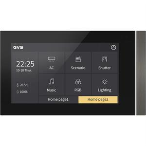 """KNX Touch Panel V50 5"""" horizontalement gris"""