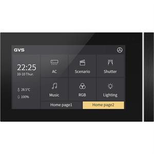 """KNX Touch Panel V50 5"""" horizontalement noir"""