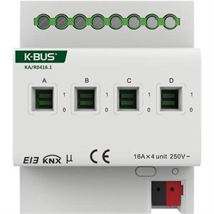 Attuatore di commutazione con misura di corrente a 4 canali 16A