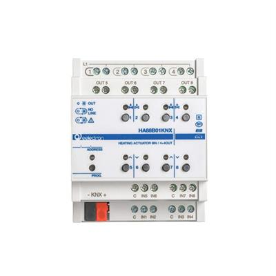 Attuatore di riscaldamento/interruttore 8IN - 4+4 OUT