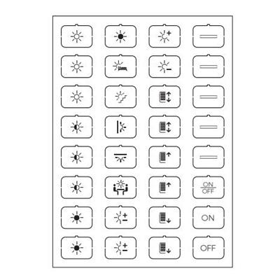 Set icone B bianco