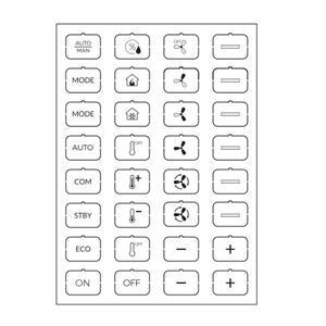 Set icone C bianco