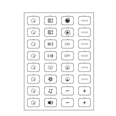 Set icone D bianco