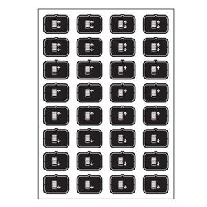 Set icone E nero