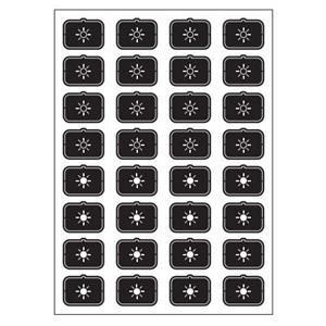 Set icone F nero
