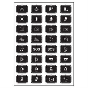 Set icone H nero