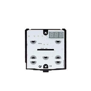 Termostato/igrostato KNX con 7 pulsanti nero